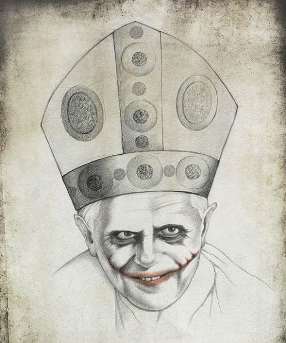 Папа Римский в интерпретации молодой художницы