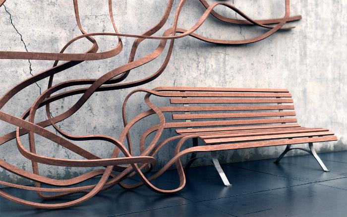 Скамья-спагетти: оригинальный взгляд на мебель от французского дизайнера