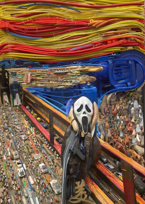 Инсталляция-аллюзия на работу Эдварда Мунка