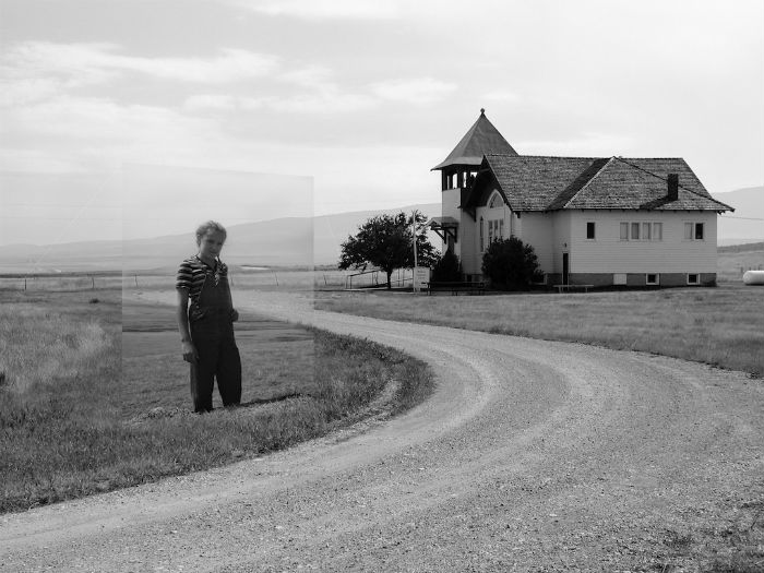 В числе прочих фотографий Джексон использовал снимки из собственного семейного архива