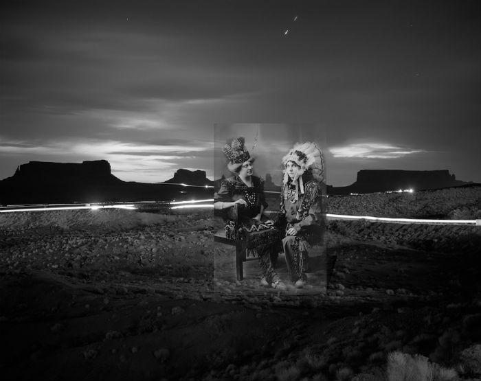Серия монохромных фотоколлажей от американского фотографа
