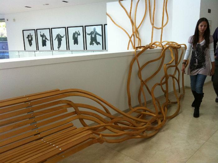Впечатляющий проект «Spaghetti bench» - своеобразный гимн мебели