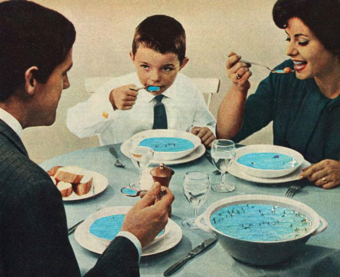 """Коллаж """"Seafood"""". Слэббинк обожает экспериментировать с различными стилями"""