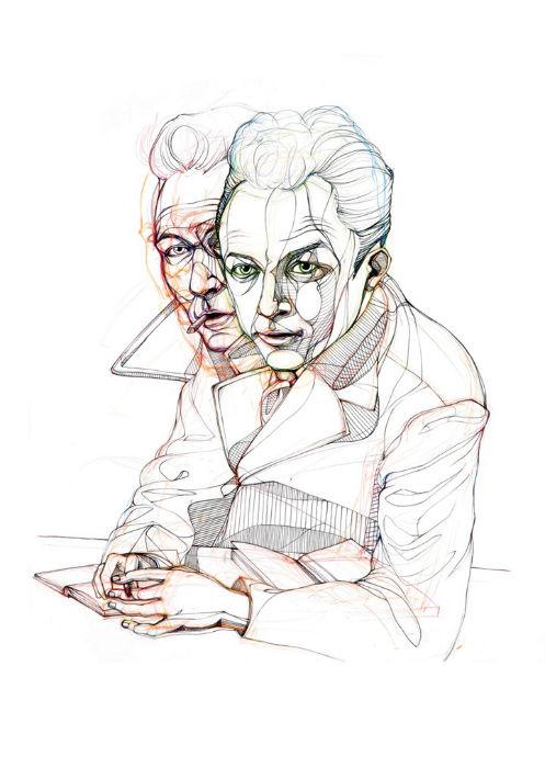 Альбер Камю. Портрет в исполнении английской художницы