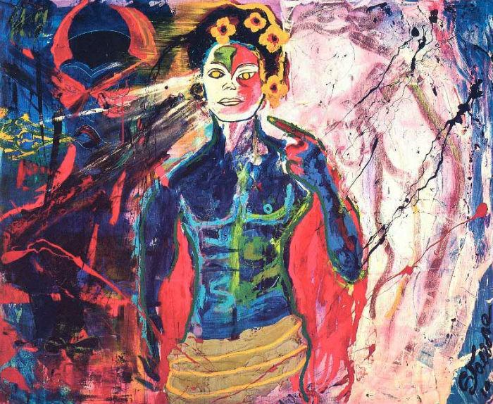 Одна из картин Сильвестра Сталлоне