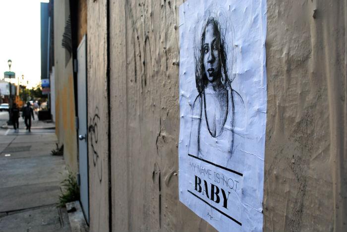 Плакаты Татьяны Фазлализадех на улицах