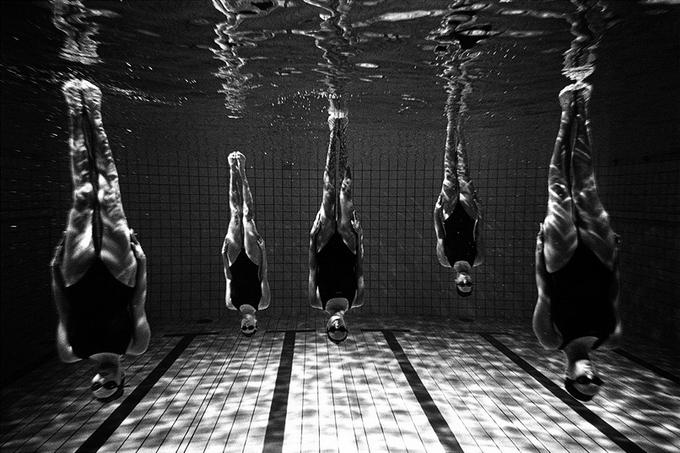 Синхронное плаванье. Фотографии Томаса Гудзоваты