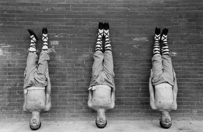 Тренировка мастеров кунг-фу. Фотографии Томаша Гудзоваты