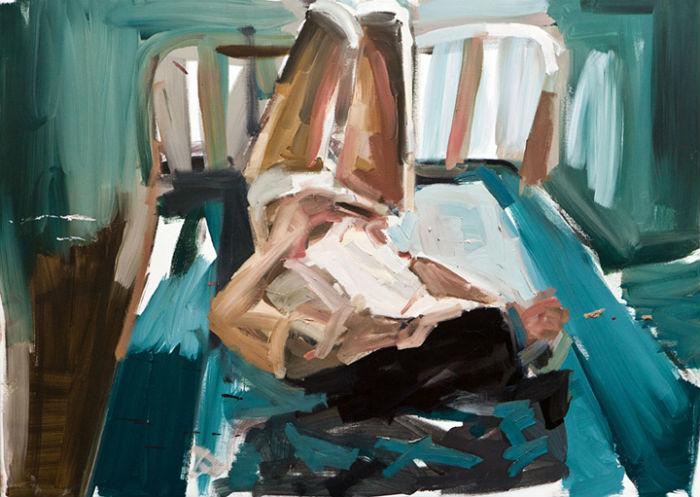 Выразительная и эмоциональная живопись художницы из Барселоны.