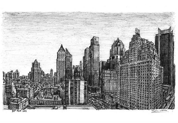 Вид на Манхэттен. Новые потрясающие работы Стивена Уилтшира