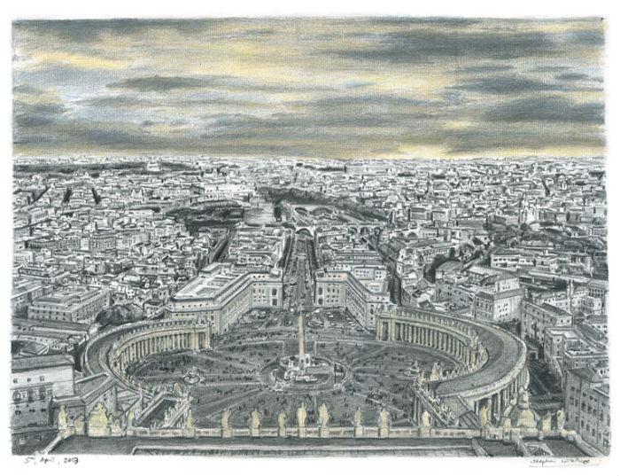 Ватикан. Новые потрясающие работы Стивена Уилтшира
