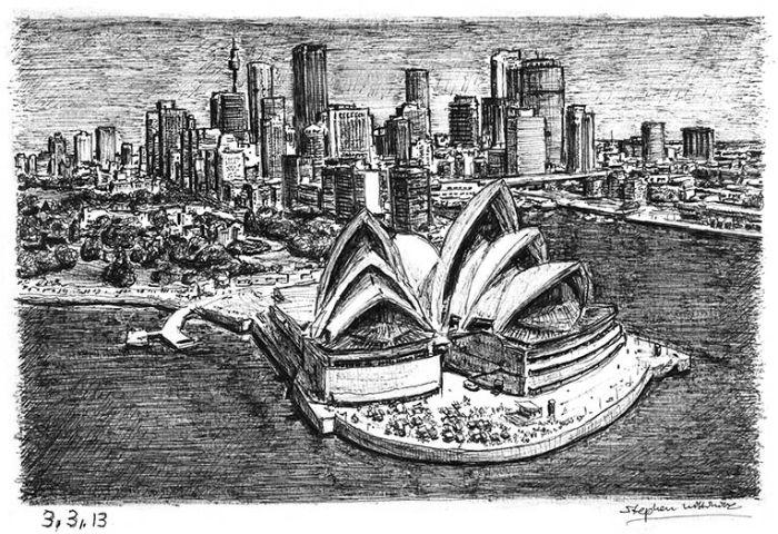 Сидней. Новые потрясающие работы Стивена Уилтшира