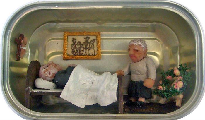 Любопытные миниатюрные диорамы в банках из-под сардин
