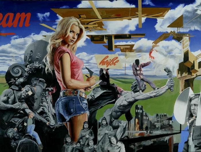 Коллажная живопись американского художника
