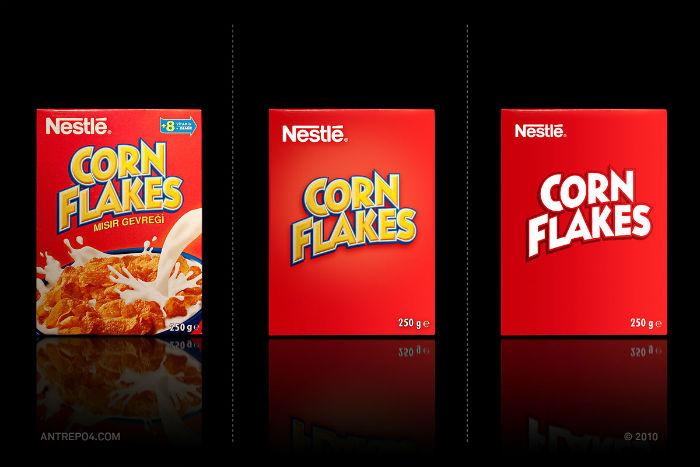 Сухие завтраки Corn Flakes: три варианта упаковки