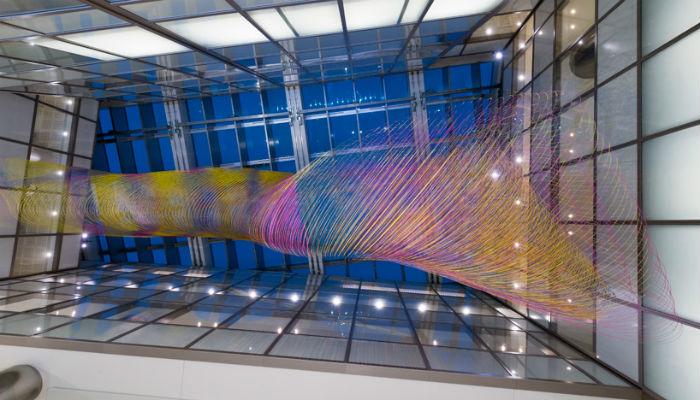 Подвесная инсталляция «Воздушный сад» в Международном аэропорту Лос-Анджелеса
