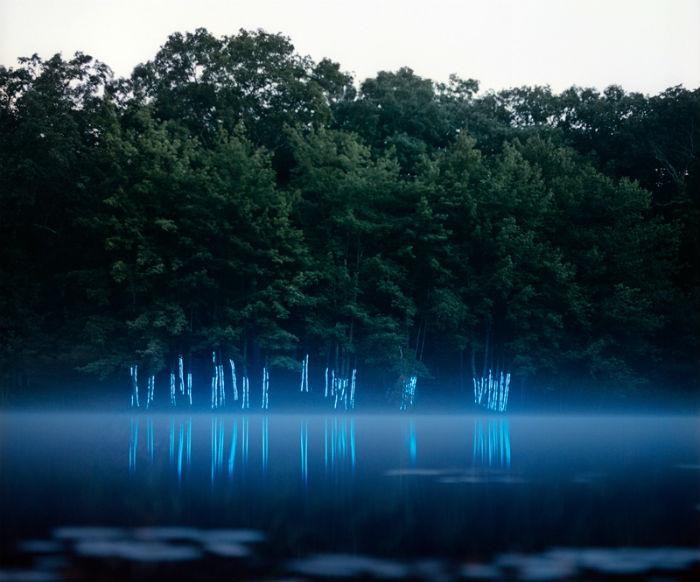 Световые инсталляции в серии снимков «Scenes» от американского фотохудожника