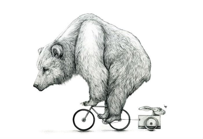 Иллюстрации Эми Доувер (Amy Dover) полны разрушительной красоты