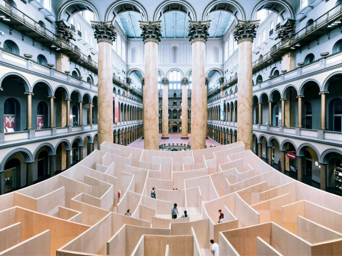 Интерактивный проект BIG maze («Большой лабиринт») в Национальном музее строительства (Вашингтон)