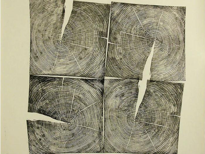 Оттиски Брайана Нэша Гилла, американского художника и скульптора