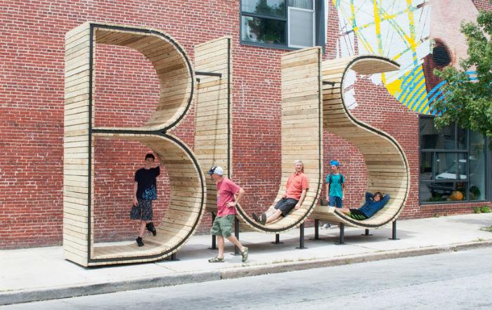 Проект оригинальной автобусной остановки представили в Балтиморе