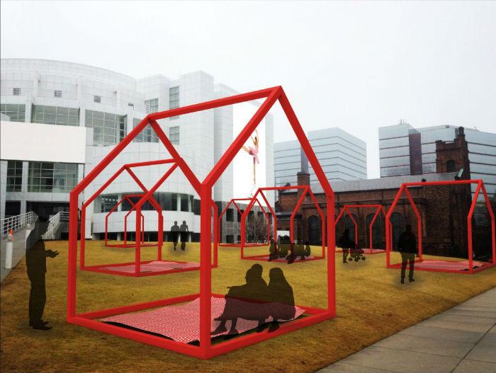 Интерактивная инсталляция Mi casa, your casa («Мой дом – твой дом») в Атланте (США)