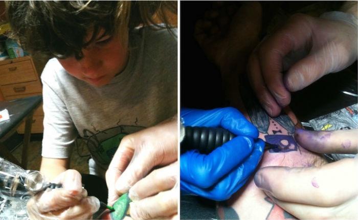 Однажды Кай даже попытался самостоятельно нанести своему отцу татуировку