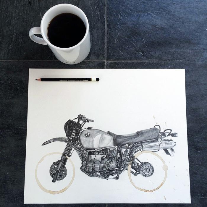 Рисунки, вдохновлённые следами от кружки