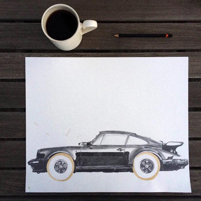 Вдохновляясь незамысловатыми окружностями, которые оставляет на бумаге кофейная кружка,  Асманн создаёт новый оригинальный сюжет