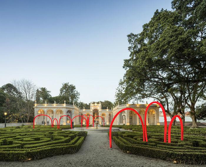 Световая инсталляция Сonstell.ation в парке бывшей президентской резиденции Лиссабона