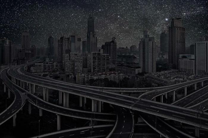 Шанхай в потрясающем проекте французского фотографа