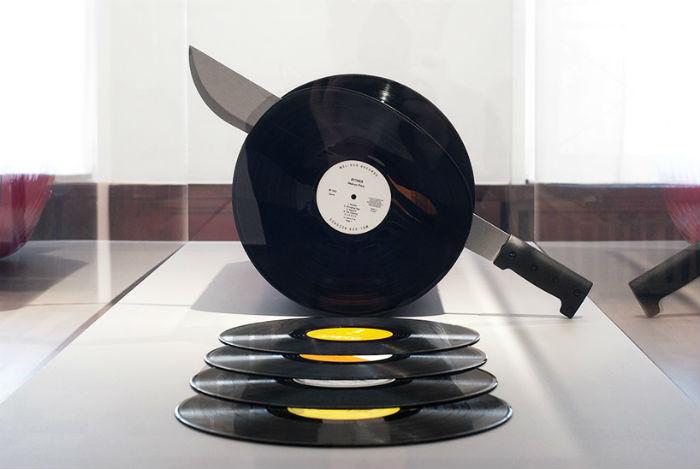 Виниловая колбаса Cutting records - любопытное творение шведского дизайнера.