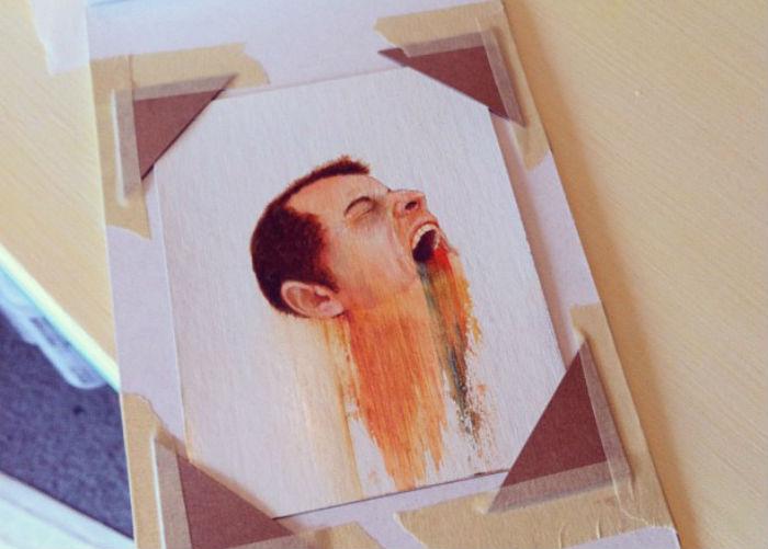 Канадский художник Брайан Доннелли намеренно разрушает структуру изображения различными способами