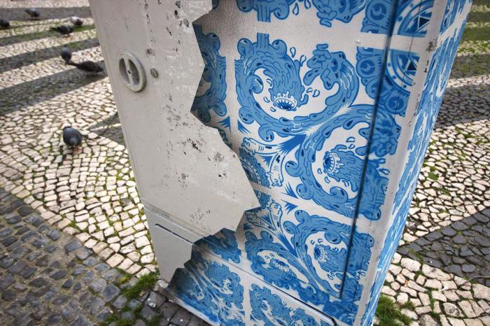 Потрясающий стрит-арт на одной из улиц Лиссабона
