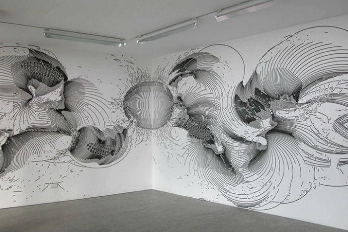 Узоры, украшающие белоснежные стены, от Герхарда Майера