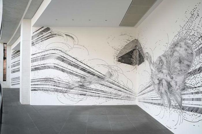 Один из последних проектов Майера – оригинальная  настенная роспись