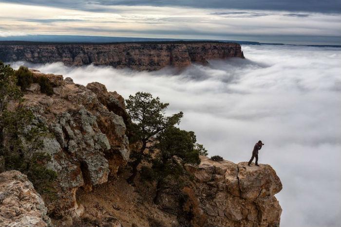Удивительные снимки последствий температурной инверсии в Гранд-Каньоне