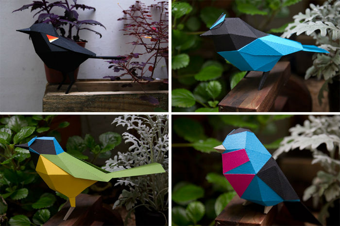 Удивительные фигурки зверей и птиц из бумаги