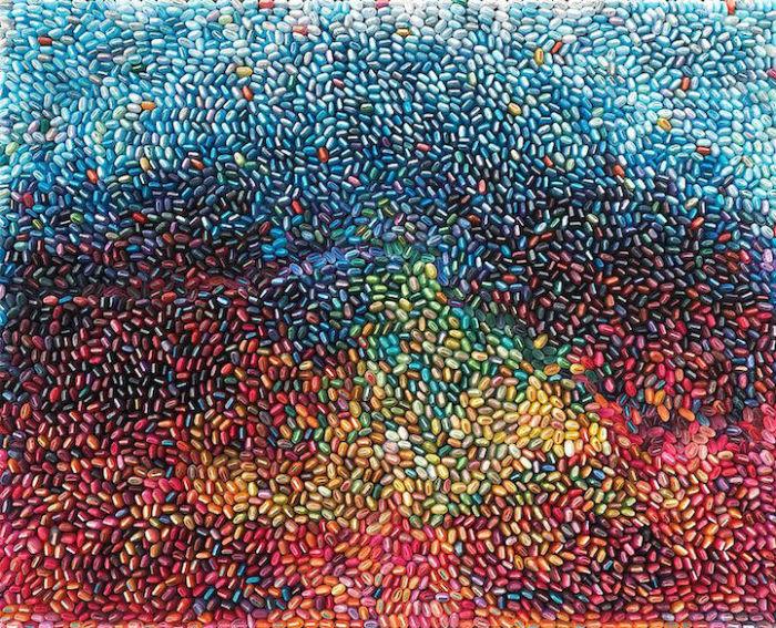 Абстрактные картины из крученой цветной бумаги от Ilhwa Kim