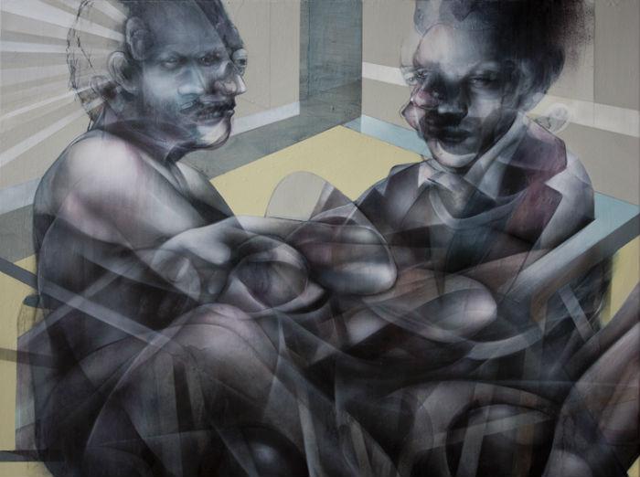 Художнику  нравится работать с природными элементами, разбавлять их абстракциями