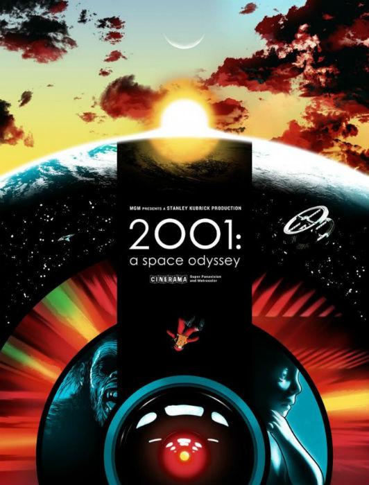 Постер к культовому научно-фантастическому фильму Стэнли Кубрика 1968 года «Космическая одиссея 2001 года», автор Joshua Budich