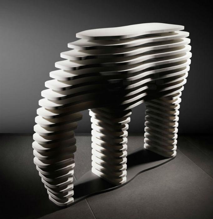 Серия каменных скульптур животных от итальянского скульптора и дизайнера. Зебра