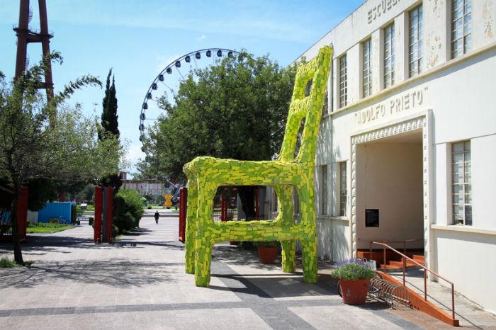 Масштабная инсталляция в мексиканском парке Фундидора