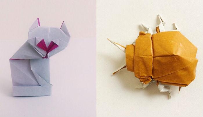 Художник решил каждый день выкладывать фото новой фигурки оригами в свой блог