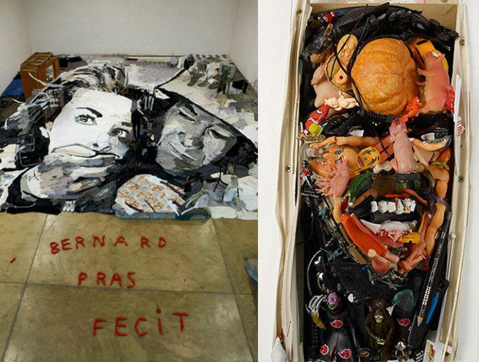 Инсталляции-аллюзии на знаменитые кинофильмы в исполнении Бернара Праса