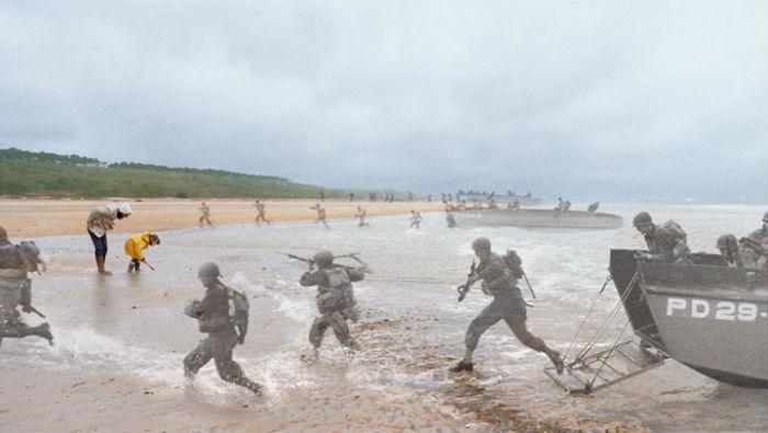 Высадка американских солдат в Нормандии, 1944 год