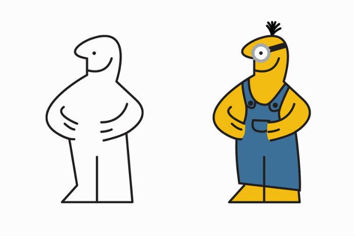 Забавные рисованные фантазии на тему человечка из инструкции по сборке магазина IKEA