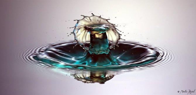 Высокоскоростная съемка капель воды