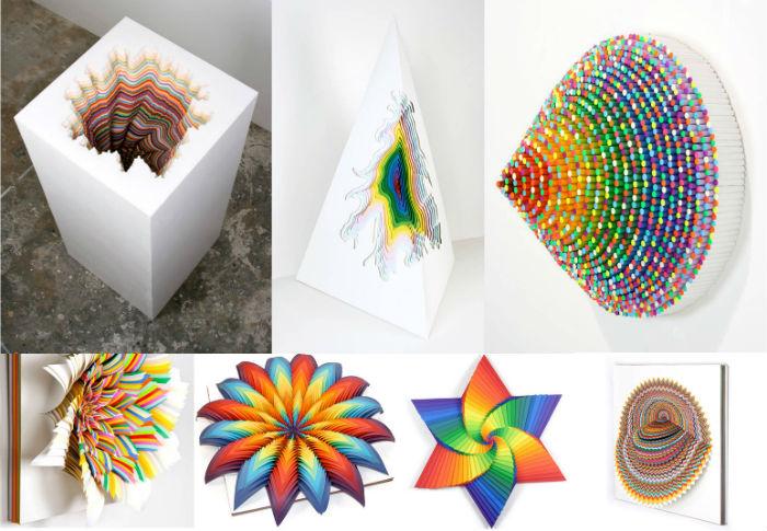 Потрясающие объёмные скульптуры из бумаги Джен Старк