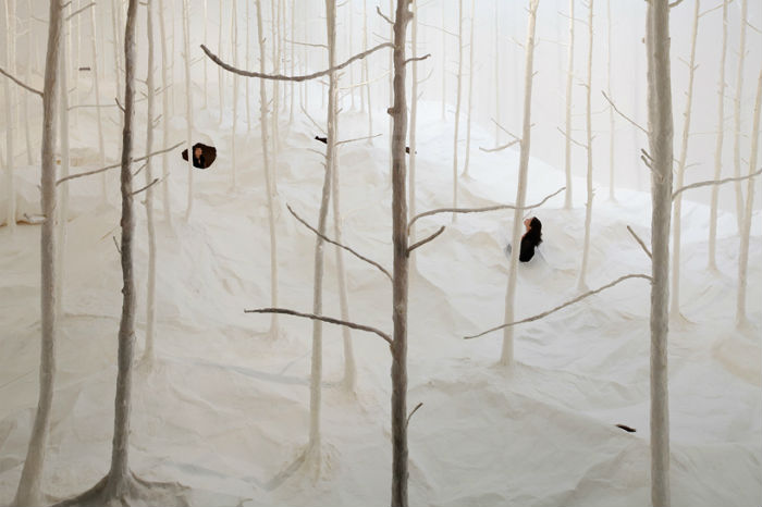 Инсталляция японского художника в японском Саппоро